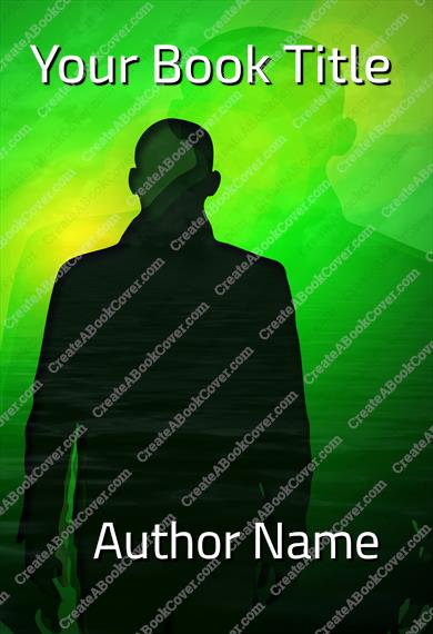 Man Silhouette Shadow Green