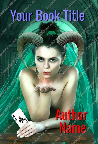 Gothic woman with horns