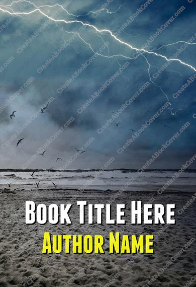 Lightning Across Beach (No Man)